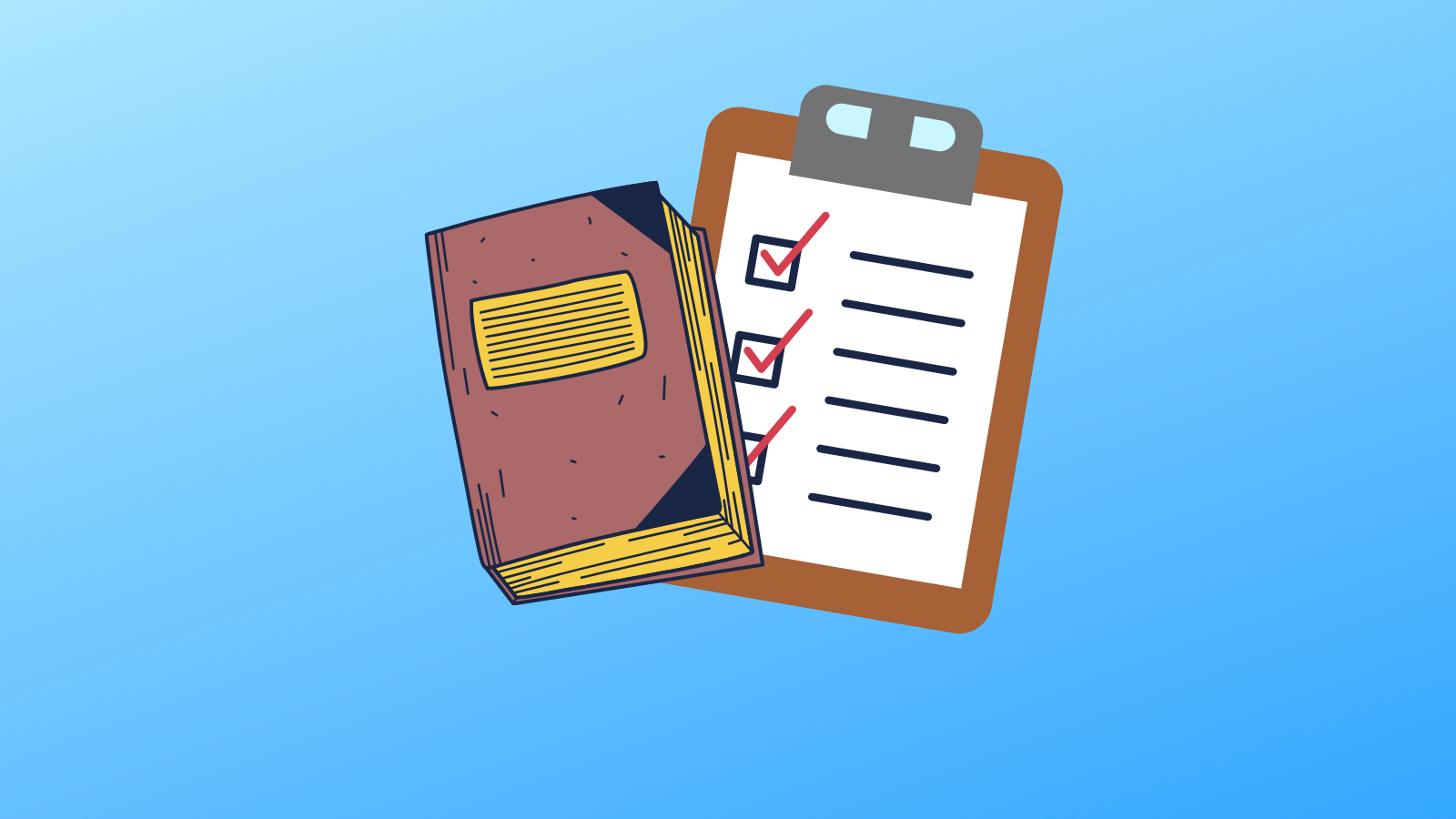 A Notebook with a Checklist. 10 Prompts to Start Writing